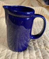 "VINTAGE MCCOY COBALT BLUE POTTERY JUICE/MILK/WATER PITCHER #1429 USA 7 1/4"" TALL"
