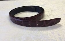 Fashion Men's Burgundy & Pink Genuine Leather Belt 47.5""