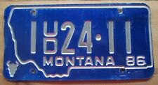 Montana 1986 SILVER BOW COUNTY USED CAR DEALER License Plate # 1 24-11
