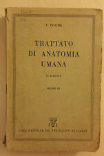Cesare Falcone - Trattato di Anatomia Umana 3^ Edizione Vallardi - Vol. 3 - 1951