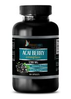 Pure ACAI Berry Powder 1200mg - Powerful Antioxidant Anti-Aging - 60 Capsules
