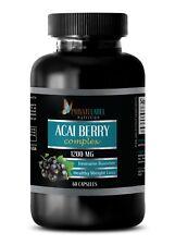 Pure ACAI Berry Powder 1200mg - Powerful Antioxidant Anti-Aging - 60 Capsules