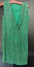 Luftiges Sommerkleid M 40 L 42 ESPRIT grün dunkelgraublau