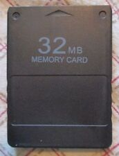 Generic Black Memory Card 32MB for Play Station 2 PS2