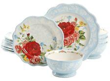 #The Pioneer Woman Sweet Rose 12-Piece Dinnerware Set (Dinner,Salad,Bowl)