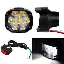 2x 12V LED ATV Motorrad Scheinwerfer Fernlicht Lampe Universal 15W mit Schalter