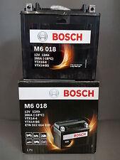 Moto Batterie BOSCH AGM M6 12V 12Ah 0092m60180 #