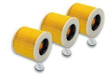 3x Patronen-Filter für Kärcher WD 2, WD 3, WD 3 , WD 3 P Extension Kit