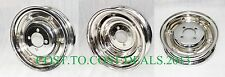 "3 x VESPA BAJAJ CHROME FRONT REAR WHEEL RIM SET 3.50 x 8"" SPLIT RIMS VBB VLB VNA"