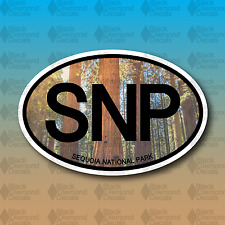 "SNP Sequoia National Park Redwoods California 5"" Hike Custom Vinyl Decal Sticker"
