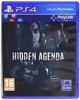 Hidden Agenda For PS4 (New & Sealed)