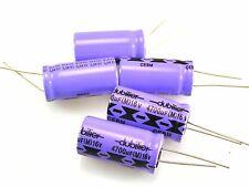 5x Condensatore Elettrolitico Dubilier radiale 4700uf 16V 32mm di lunghezza 16mm DIAM OL0538g