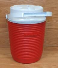 Genuine Rubbermaid (156A) Red Plastic 1 Gallon Thermal Outdoor Water Jug Cooler
