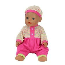 sport red jumpsuit Doll Clothes Wear for 43cm Baby Born zapf(only sell clothes)