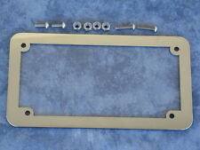 Motorcycle number plate frame / surround & lens, suit HARLEY DAVIDSON, TRIUMPH