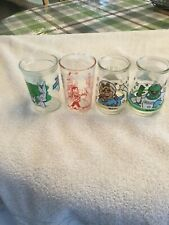 LoT Welch Jelly Glasses #1 Kermit in #2 Miss Piggy Howdy Doody #1 Bugs Bunny