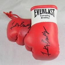 Autographed Mini Boxing Gloves Timothy Bradley