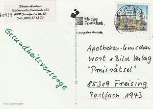 1999 Germany winter postcard sent from Frankfurt am Main