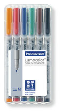 Staedtler Lumocolor Non-Permanent Medium Universal Marker Pens Desktop Pk of 6