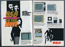 1968 RCA tv ad ~ New Portable Television's, Clock Radio, For People on the Move