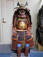 SAMURAI ARMOR Japanese yoroi Kabuto mask helmet edo busho antique vintage 217