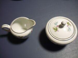 Vintage Japan Fine China 6701 Creamer and Sugar Bowl