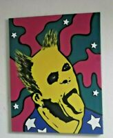THE PRODIGY, KEITH FLINT, HAND PAINTED canvas 20 x 16 INS.