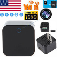 HD 1080P WIFI SPY Hidden Camera Wall Charger Adapter DVR Video Recorder Webcam