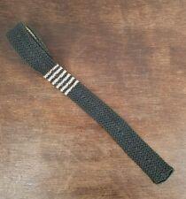 Vintage 60s Beau Brummell Skinny Mod Necktie Tie Square End Gray Pink Nylon
