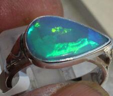 Hot Brazil Crystal Opal 3.3 Karat 950er Silberring Größe 18,8 mm Unikat