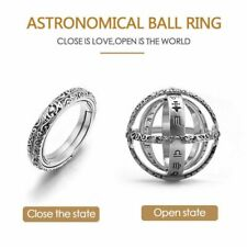 Astronomical Sphere Ball Cosmic Finger Knuckle Rings Couple Open &Close Foldable