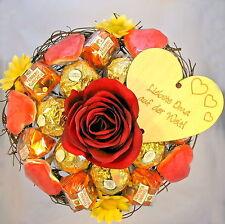 Rocher-Strauß Liebste Oma auf der Welt Praline Schokolade Holz Herz Muttertag