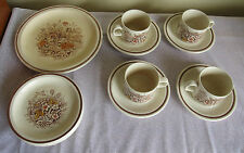 Churchill Stonecast Homespun Dinner Set, Plates Cups & Saucers, Country Harvest