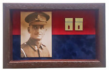 Large Royal Field Artillery Medal Display Case With Photograph For 3 - 4 Medals
