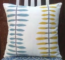 "Skandi style Cushion Cover/16""x16""/John Lewis AGNETHA Embroidered Fabric,Citrine"