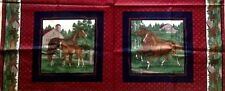 Cranston VIP ~ Horses Foals Stable Barns ~ Pillow Panels 100% Cotton Fabric