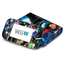 Batman Super Heroes - Nintendo Wii U & GamePad Skin Decal Sticker Vinyl Wrap