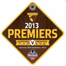 HAWTHORN HAWKS AFL 2013 PREMIERS WINDOW CAR SUCTION CUP