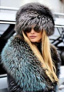 Silver Fox Fur Hat