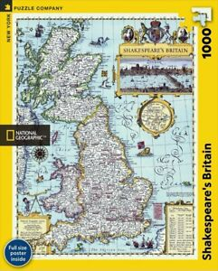 Old Map of Shakespeare's Britain 1000 Piece Puzzle 489mm x 676mm (nyp)