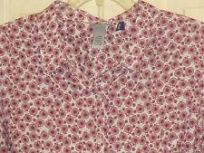 WOMENS CATHERINES BLOUSE SHIRT 2X NWT BUTTON FRONT TRICYCLES LONG 3/4 SLV CUTE!