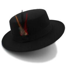 Unisex Wide Brim Felt Blend Hats Trilby Jazz Panama Sombrero Gentleman's Hats