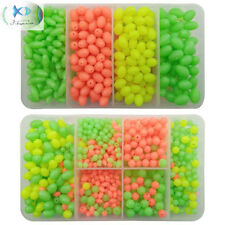 1000pcs Fishing Beads Oval&Round Shaped Plastic Bead Carp Fishing Bait Eggs Lure