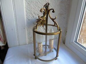 French  lantern 2 light bronze brass classic designed vintage