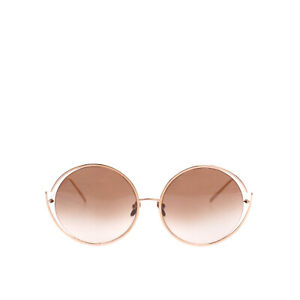 RRP €640 LINDA FARROW Oversized Round Sunglasses Lenses By Zeiss Made in Japan