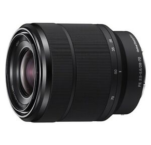 Sony - FE 28-70mm f/3.5-5.6 OSS Zoom Lens a7 Series Cameras Black With Caps
