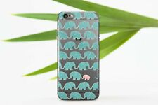 Elephants Pattern iPhone XR Silicone Case Cute Animals iPhone 6s 7 8 Plus Cover