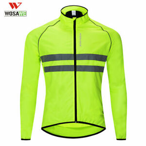 Reflective Vest Windproof Men's Cycling Jacket High Visibility MTB Bike Jersey