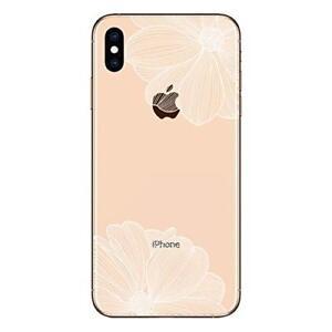 """iPhone XS MAX 6.5""""  Coque gel souple résistante anti choc ( Fleur blanche )"""