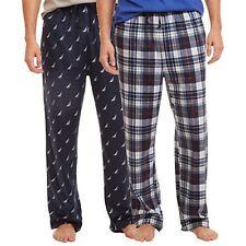 NWT NAUTICA Men's Sleepwear 2 Pack Sueded Fleece Lounge/Pajama Pants PJ Size XL